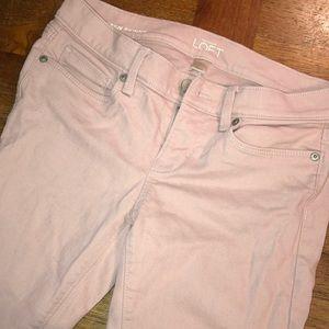 Ann Taylor LOFT baby pink jeans